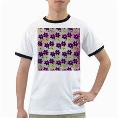 Purple Flower Ringer T