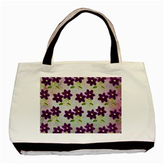 Purple Flower Basic Tote Bag