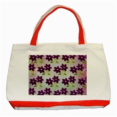 Purple Flower Classic Tote Bag (red)