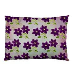 Purple Flower Pillow Case