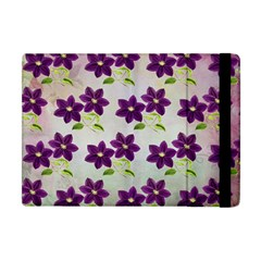 Purple Flower Apple Ipad Mini Flip Case by HermanTelo