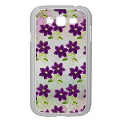 Purple Flower Samsung Galaxy Grand Duos I9082 Case (white)