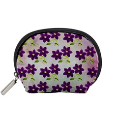 Purple Flower Accessory Pouch (small)