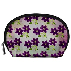 Purple Flower Accessory Pouch (large)