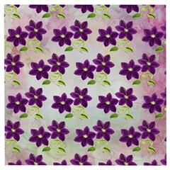 Purple Flower Wooden Puzzle Square