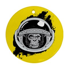 Spacemonkey Ornament (round) by goljakoff