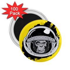 Spacemonkey 2 25  Magnets (100 Pack)  by goljakoff