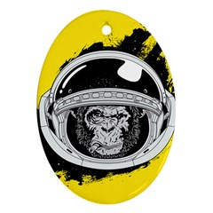 Spacemonkey Oval Ornament (two Sides) by goljakoff