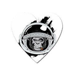 Spacemonkey Heart Magnet by goljakoff