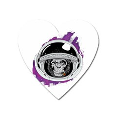 Space Ape Heart Magnet by goljakoff