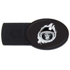 Spacemonkey Usb Flash Drive Oval (4 Gb) by goljakoff