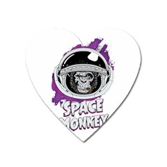Vintage Spacemonkey Heart Magnet by goljakoff