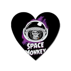 Retro Spacemonkey Heart Magnet by goljakoff