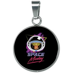 Spacemonkey New Retro Wave 20mm Round Necklace by goljakoff