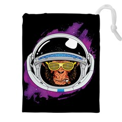 Spacemonkey Drawstring Pouch (4xl) by goljakoff