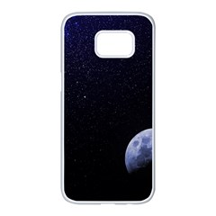 Blue Moon Samsung Galaxy S7 Edge White Seamless Case
