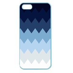 Blue Chevrons Apple Seamless Iphone 5 Case (color) by goljakoff
