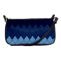 Blue Chevrons Shoulder Clutch Bag by goljakoff