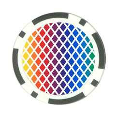 Colorful Rhombs Poker Chip Card Guard (10 Pack) by goljakoff
