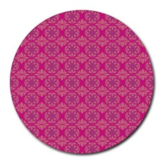 Background Texture Pattern Mandala Round Mousepads