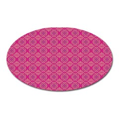 Background Texture Pattern Mandala Oval Magnet