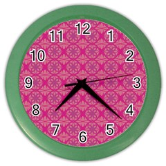 Background Texture Pattern Mandala Color Wall Clock