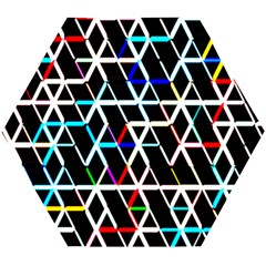 Abstrait Neon Wooden Puzzle Hexagon