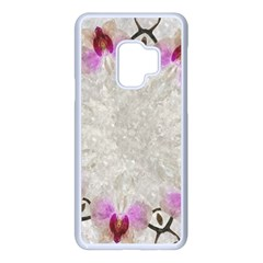 Orchidées Fleurs Abstrait Samsung Galaxy S9 Seamless Case(white) by kcreatif