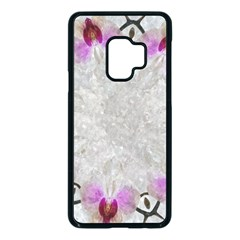 Orchidées Fleurs Abstrait Samsung Galaxy S9 Seamless Case(black) by kcreatif