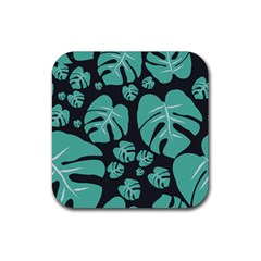 Leaves Rubber Square Coaster (4 Pack)  by Sobalvarro