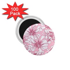 Pink Flowers 1 75  Magnets (100 Pack)  by Sobalvarro