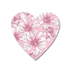 Pink Flowers Heart Magnet by Sobalvarro