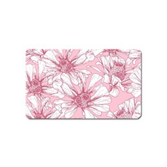 Pink Flowers Magnet (name Card) by Sobalvarro