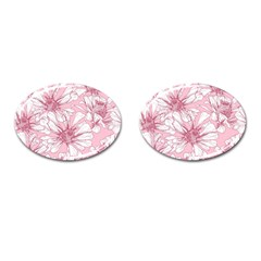 Pink Flowers Cufflinks (oval) by Sobalvarro