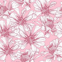 Pink Flowers Canvas 16  X 16  by Sobalvarro