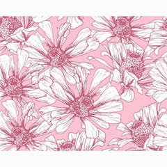 Pink Flowers Canvas 16  X 20  by Sobalvarro