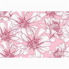 Pink Flowers Canvas 24  X 36  by Sobalvarro