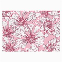 Pink Flowers Large Glasses Cloth (2 Sides) by Sobalvarro