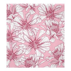 Pink Flowers Shower Curtain 66  X 72  (large)  by Sobalvarro