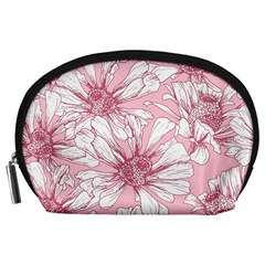 Pink Flowers Accessory Pouch (large) by Sobalvarro