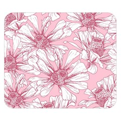 Pink Flowers Double Sided Flano Blanket (small)  by Sobalvarro