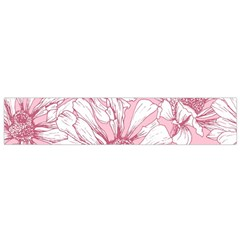 Pink Flowers Small Flano Scarf by Sobalvarro
