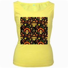 Dia De Los Muertos Women s Yellow Tank Top by Sobalvarro