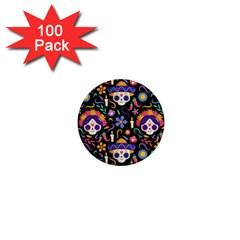 Dia De Los Muertos 1  Mini Buttons (100 Pack)  by Sobalvarro