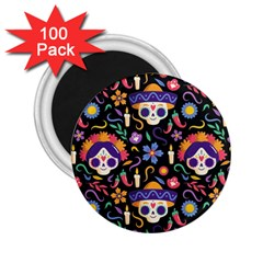 Dia De Los Muertos 2 25  Magnets (100 Pack)  by Sobalvarro