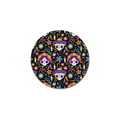 Dia De Los Muertos Golf Ball Marker (10 Pack) by Sobalvarro