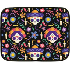 Dia De Los Muertos Double Sided Fleece Blanket (mini)  by Sobalvarro
