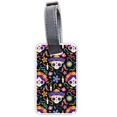 Dia De Los Muertos Luggage Tag (two Sides) by Sobalvarro