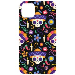 Dia De Los Muertos Iphone 11 Pro Max Black Uv Print Case by Sobalvarro