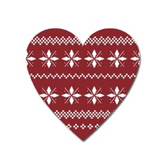 Christmas Pattern Heart Magnet by Sobalvarro